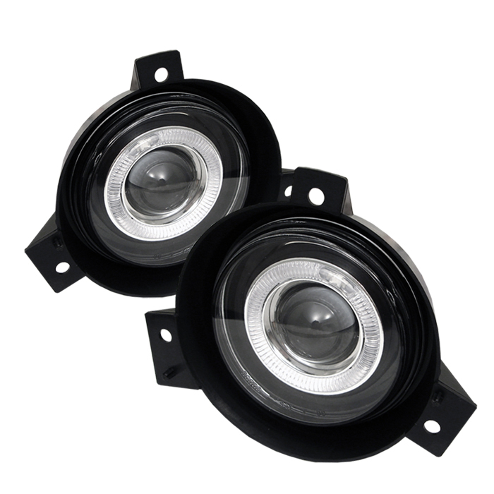 Ford Ranger 2001-2004  Clear  Halo Projector Fog Lights