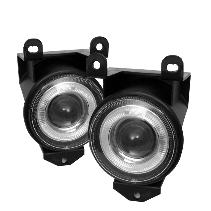 Gmc Sierra 1999-2006  Clear  Halo Projector Fog Lights