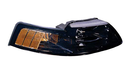 Ford Mustang 01-02 Driver Side Replacement Headlight with Black Bezel