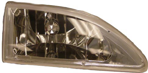 Ford Mustang 1994-1998 Chrome Cobra Style Diamond Headlights