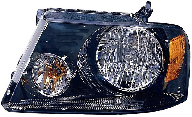 Ford F150 04-06 Black Housing Diamond Back Headlights