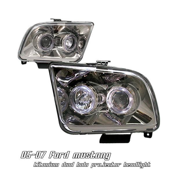 Ford Mustang 2005-2007  Titanium W/ Halo Projector Headlights