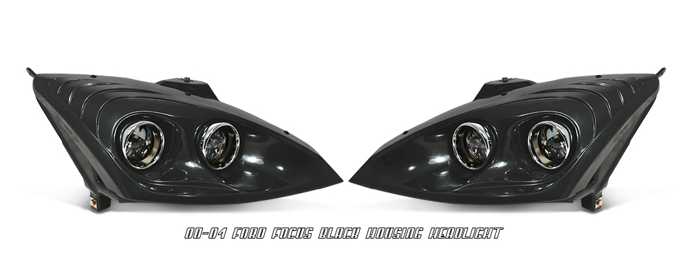 Ford Focus 2000-2004  Black Projector Headlights