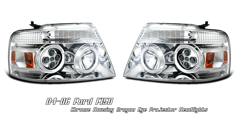 Ford F150 2004-2008  Chrome W/dragon Eye Projector Headlights