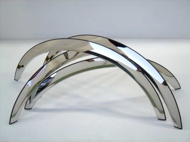 Gmc Sierra 07-10 Long Style  Stainless Steel Polished Fender Trim