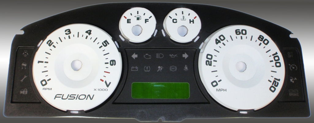 Ford Fusion 2006-2009  White / Green Night Performance Dash Gauges