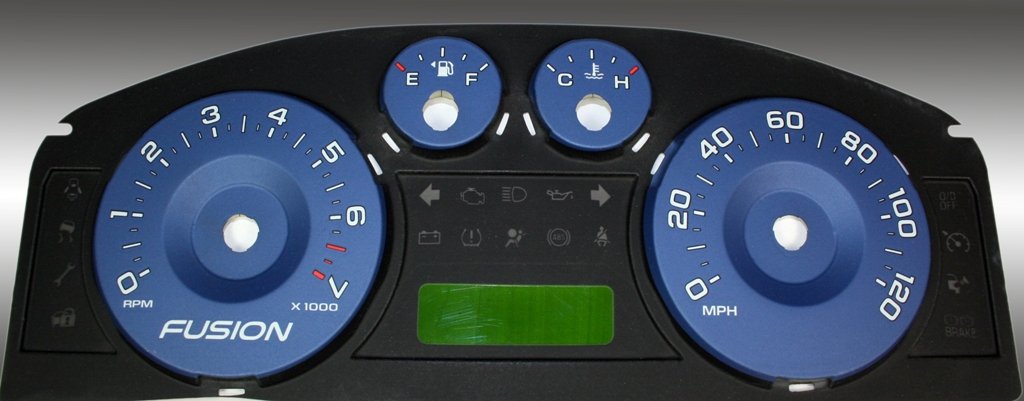 Ford Fusion 2006-2009  Blue / Green Night Performance Dash Gauges