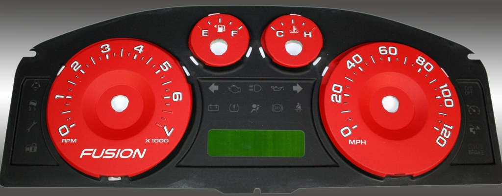 Ford Fusion 2006-2009  Red / Green Night Performance Dash Gauges