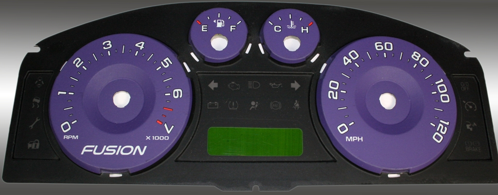 Ford Fusion 2006-2009  Purple / Green Night Performance Dash Gauges