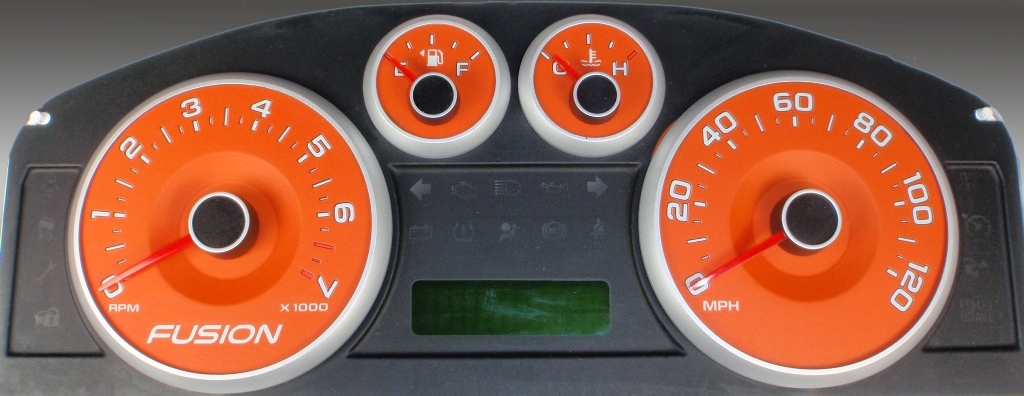 Ford Fusion 2006-2009  Orange / Green Night Performance Dash Gauges
