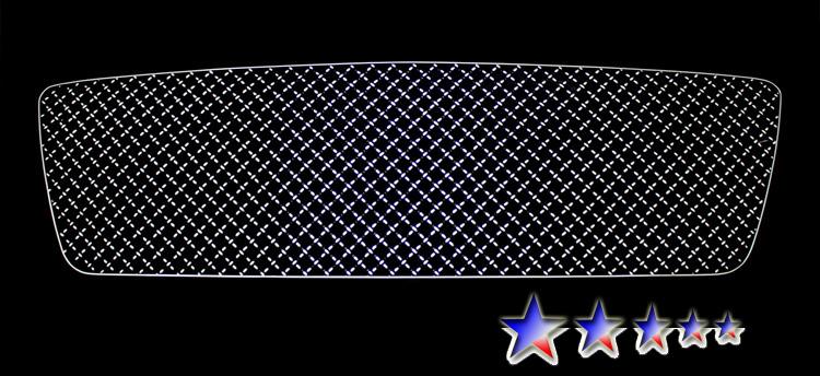 Ford F150  2004-2008 Chrome Surface With Black Paint Main Upper X Mesh Grille