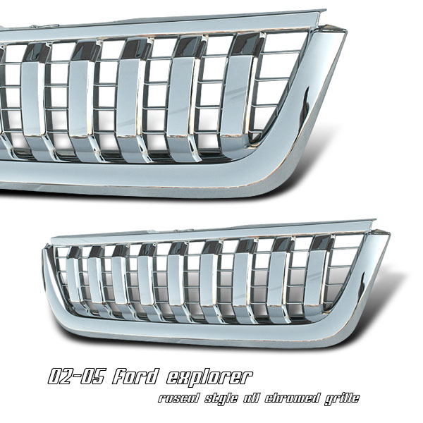 Ford Explorer 2002-2005  Vertical Style Front Grill