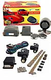 Car Alarm, Keyless Entry and Power Door Lock Kit Combo {2 Door}