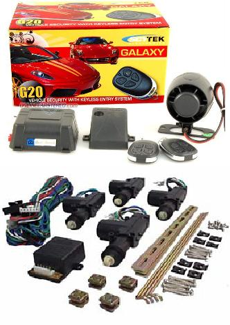 Car Alarm, Keyless Entry and Power Door Lock Kit Combo (4 Door)