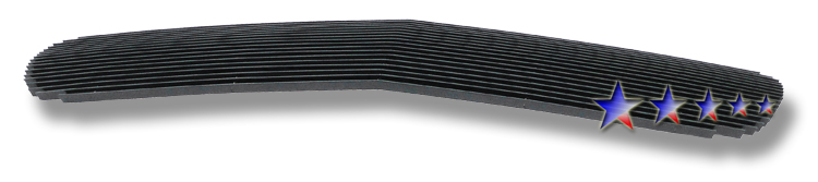 2002-2006 Gmc Sierra Denali Black Powder Coated Black Aluminum Billet Grille - Main Upper