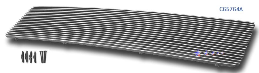 Gmc Topkick  2003-2007 Polished Main Upper Aluminum Billet Grille