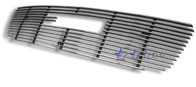 Gmc Sierra 2500 2003-2004 Polished Main Upper Aluminum Billet Grille