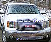 2010 Gmc Sierra Denali  Black Powder Coated Main Upper Black Aluminum Billet Grille