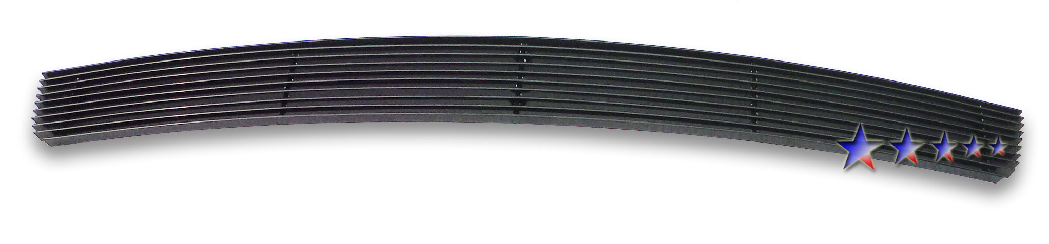 Gmc Sierra Denali 2007-2010 Black Powder Coated Lower Bumper Black Aluminum Billet Grille