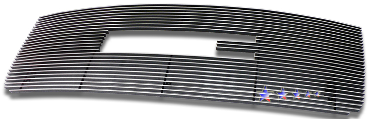 Gmc Sierra 3500 Hd 2007-2010 Polished Main Upper Aluminum Billet Grille