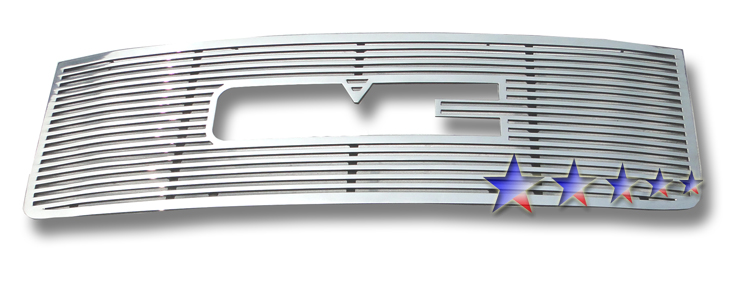 Gmc Sierra 3500 Hd 2011-2012 Polished Main Upper Aluminum Billet Grille