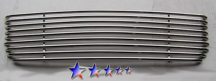 Gmc Envoy  2001-2009 Polished Main Upper Tubular Grille