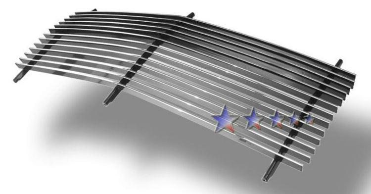 Gmc Suburban  1990-1993 Polished Main Upper Aluminum Billet Grille