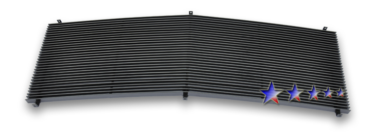Gmc Full Size Pickup  1994-1998 Black Powder Coated Main Upper Aluminum Billet Grille