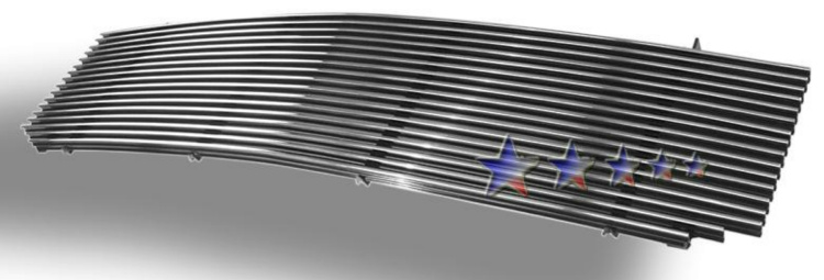 Gmc Sierra 1500 1999-2000 Polished Main Upper Aluminum Billet Grille