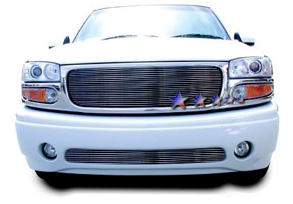 Gmc Sierra Denali 2002-2006 Black Powder Coated Lower Bumper Black Aluminum Billet Grille