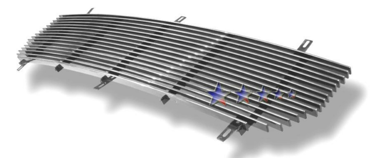Gmc Sierra 3500 2007-2007 Polished Main Upper Aluminum Billet Grille