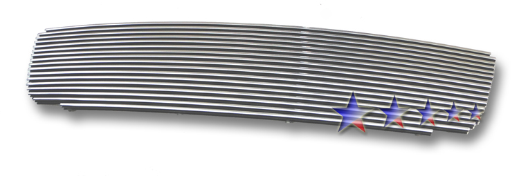 Gmc Sierra 3500 2003-2006 Polished Main Upper Aluminum Billet Grille