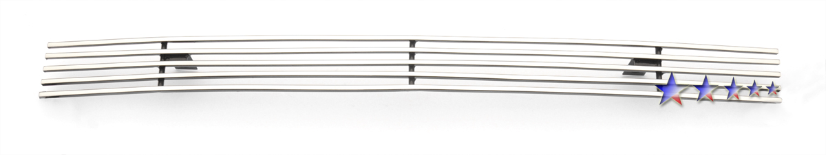 Gmc Sierra 3500 2007-2007 Polished Top Bumper Stainless Steel Billet Grille