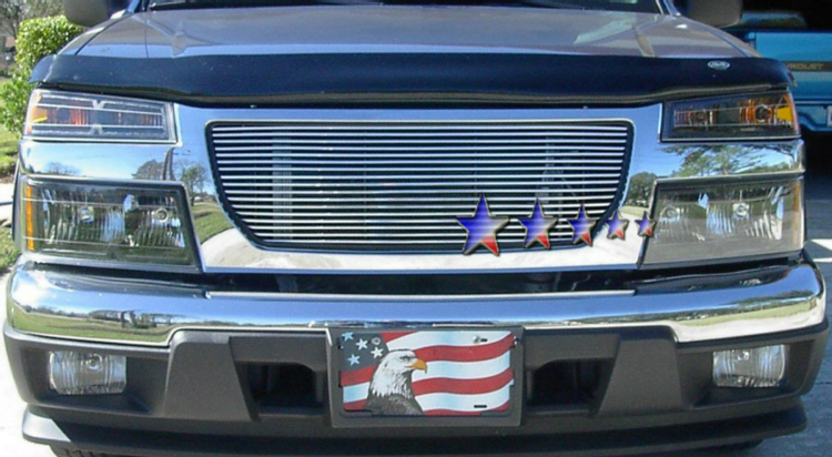 Gmc Canyon  2004-2012 Black Powder Coated Main Upper Black Aluminum Billet Grille