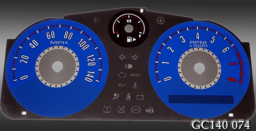 Chevrolet Cobalt 2005-2009  Blue / Blue Night Performance Dash Gauges