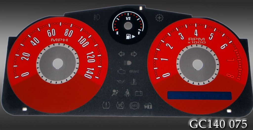 Chevrolet Cobalt 2005-2009  Red / Red Night Performance Dash Gauges