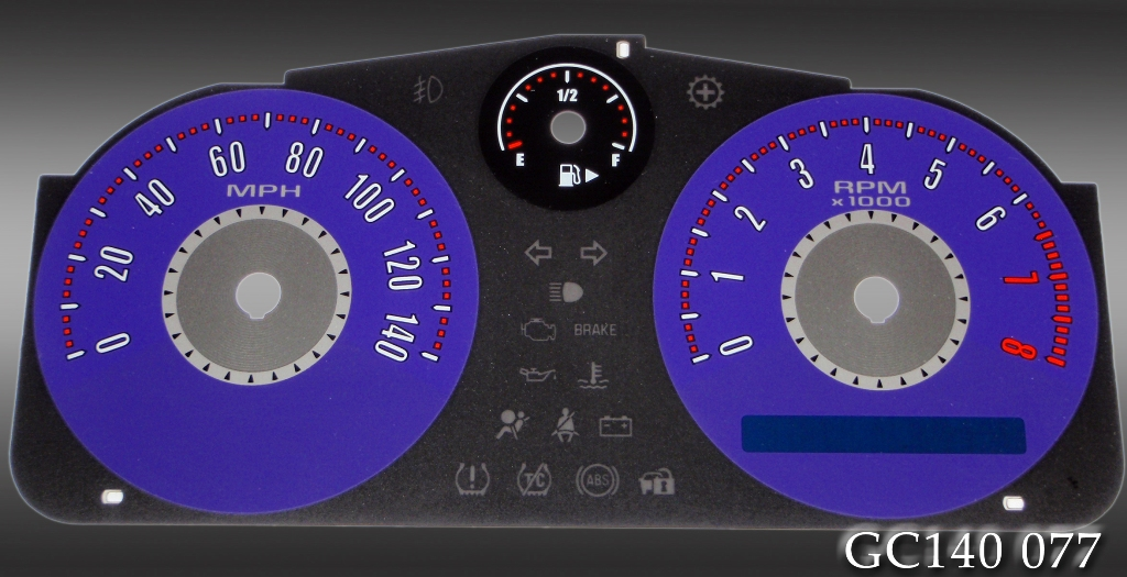 Chevrolet Cobalt 2005-2009  Purple / Purple Night Performance Dash Gauges