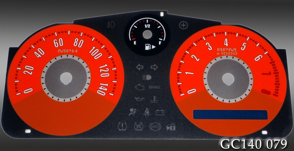 Chevrolet Cobalt 2005-2009  Orange / Orange Night Performance Dash Gauges