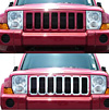 Jeep Commander 2006 Chrome Grill Overlay