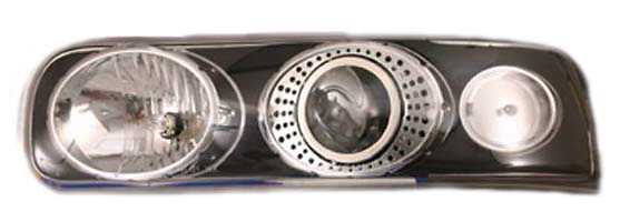 Chevrolet Suburban, Tahoe 99-05 Black Projector Headlights