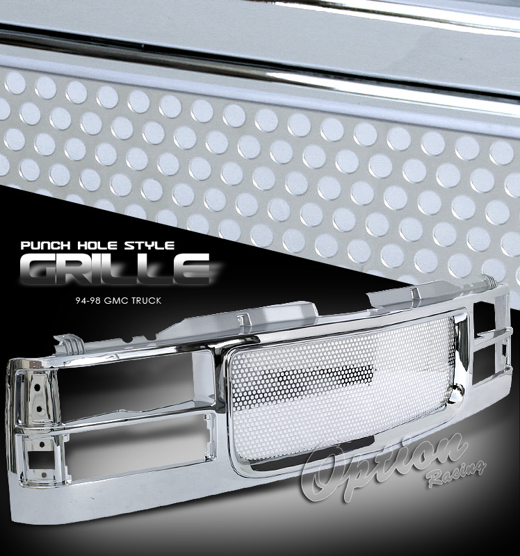 Gmc Full Size Pickup 1994-1998  Punch Hole Style Front Grill