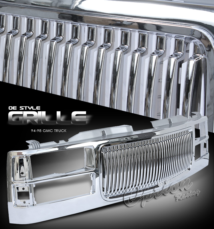 Gmc Full Size Pickup 1994-1998  Vertical Style Front Grill