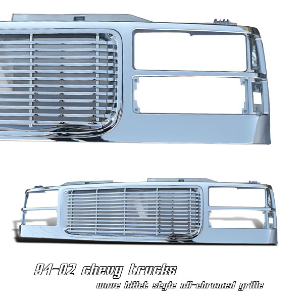 Gmc Full Size Pickup 1994-1998  Wave Billet Front Grill