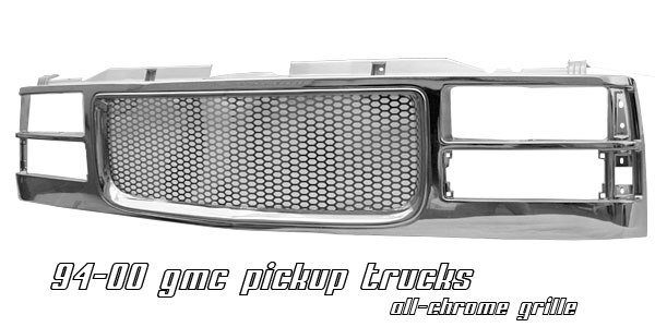 Gmc Full Size Pickup 1994-1998  Punch Hole Style Chrome Front Grill