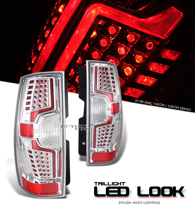 Gmc Yukon 2007-2008  Chrome Euro Tail Lights