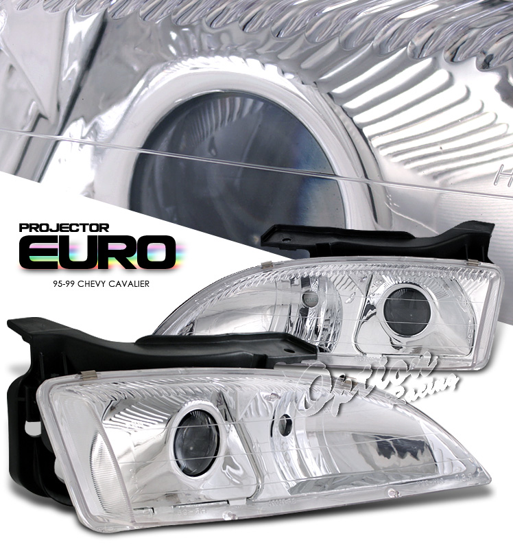 Chevrolet Cavalier 1995-1999  Chrome Housing W/ Corner Projector Headlights