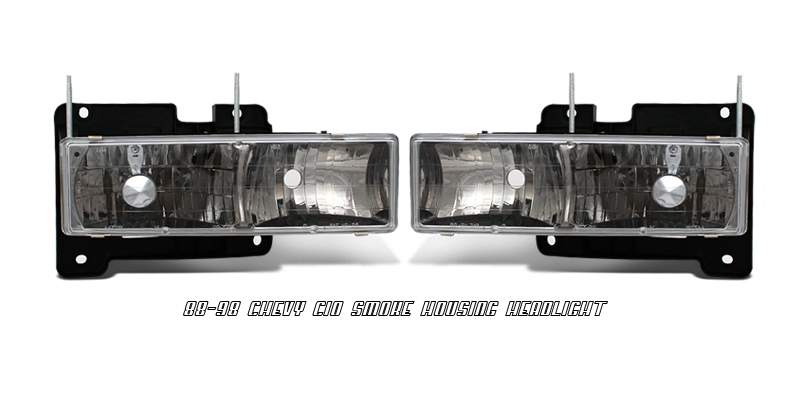 Chevrolet Full Size Pickup 1988-1998  Smoke Euro Crystal Headlights