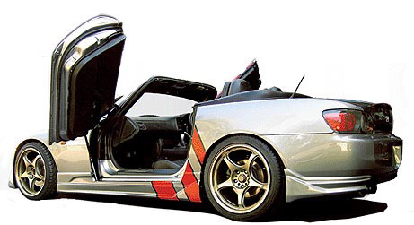 Gullwing Style Vertical Door Kit
