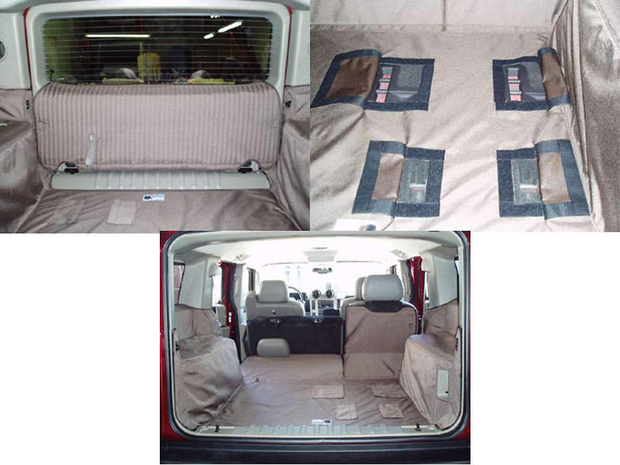 Hummer H2 03-05 Cargo Liner, models w/ Liftgate, 50/50 2nd Row Bench, 3rd Row Bench