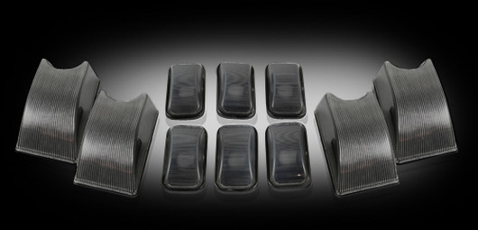 Hummer H2 AM General 2002-2010 SMOKED Cab Roof Lights (10-Piece Set ...